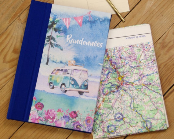 Travel journal, diary, hiking, Valentine's day gift