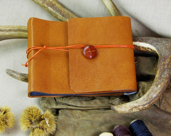Hunting memories cognac leather photo album gift hunting gift St. Hubert