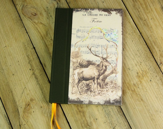Deer hunting book personalized deer and her Huntress Hunter deer hunting hunting hunting gift wood Saint Hubert