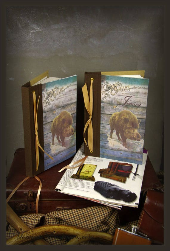 "Hunt hunting custom notebook ""boar"" perfect gift for hunters hunting enthusiasts hunting gift St. Hubert"