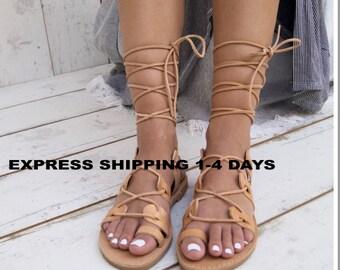 8f6cf98af ISMENE NATURAL sandals  ancient Greek leather sandals  roman sandals  toe  ring sandals  classic leather sandals  handmade sandals