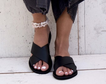 aa3726f93ce195 Ermioni Leather Sandals  Handmade Greek Sandals