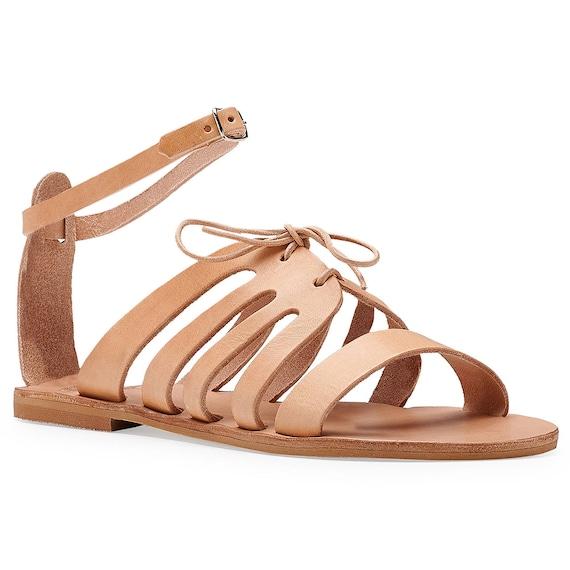 en sandales lani JASSET grec ancient cuir Sandales w1Hqa0q