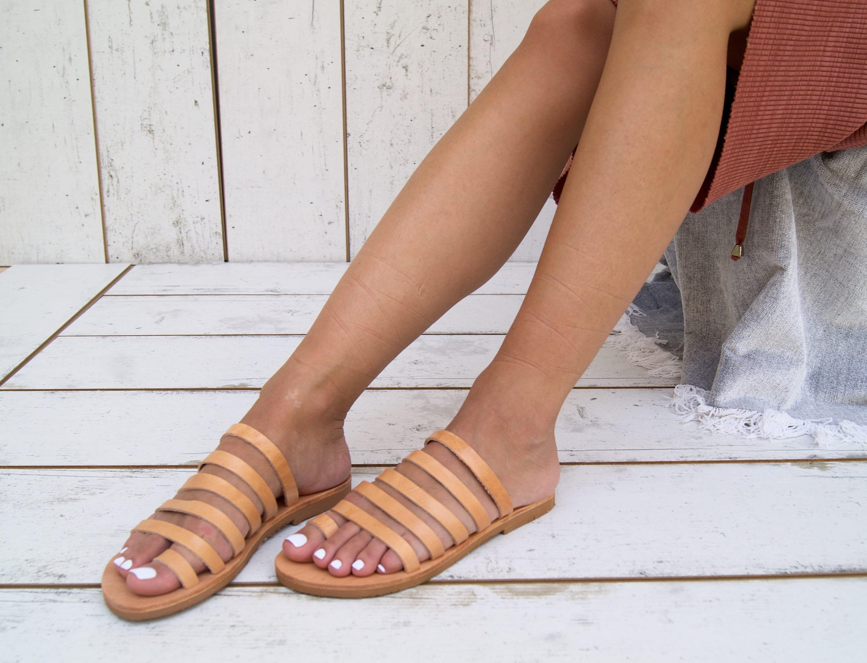 THALIA sandals ancient Greek leather sandals strappy sandals roman sandals toe ring sandals classic leather sandals handmade sandals