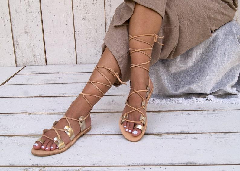 b3a7153be7eb5 ISMENE GOLD sandals/ ancient Greek leather sandals/ roman sandals/ toe ring  sandals/ classic leather sandals/ handmade sandals