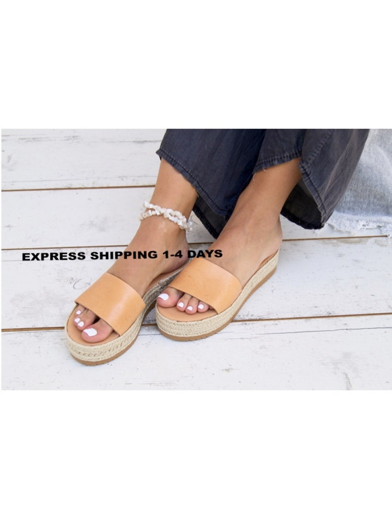 1a7621531205b VOYANA sandals/Greek leather sandals/espadrille platform sandals/ancient  grecian sandals/leather slides sandals/natural leather sandals.