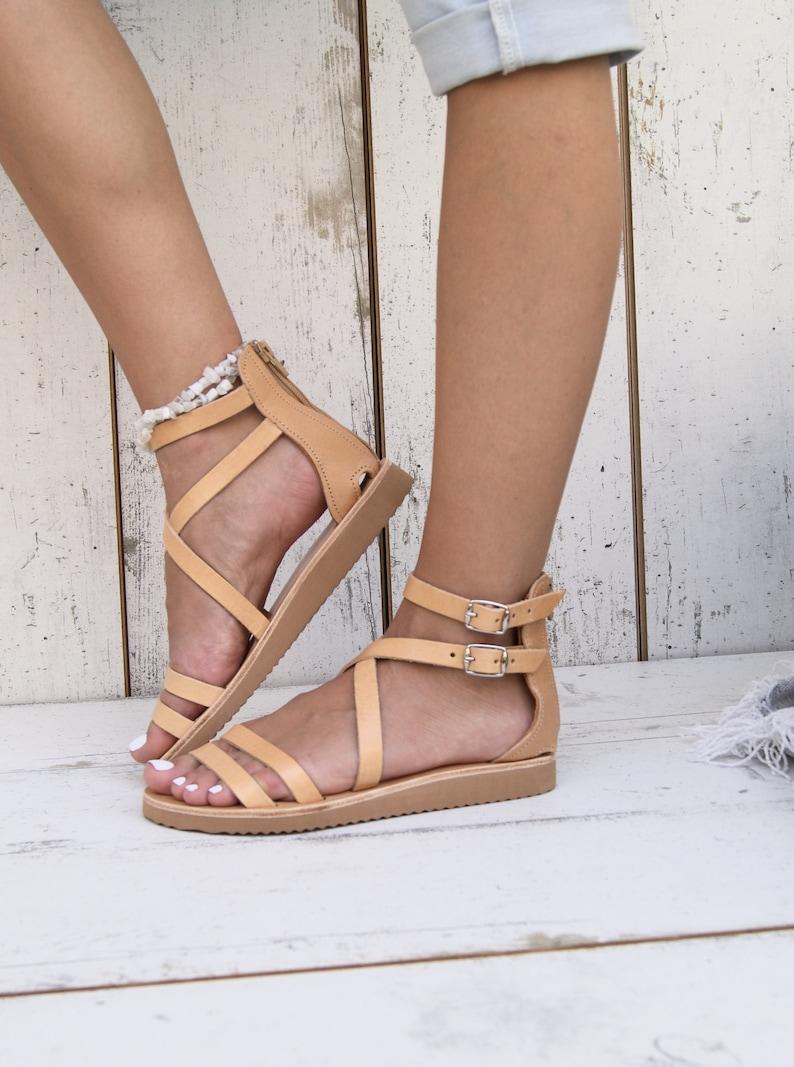 0db00af664496 PENELOPE/ ancient Greek leather sandals/ strappy sandals/ roman sandals/  women flat sandals/ classic leather sandals/ handmade sandals