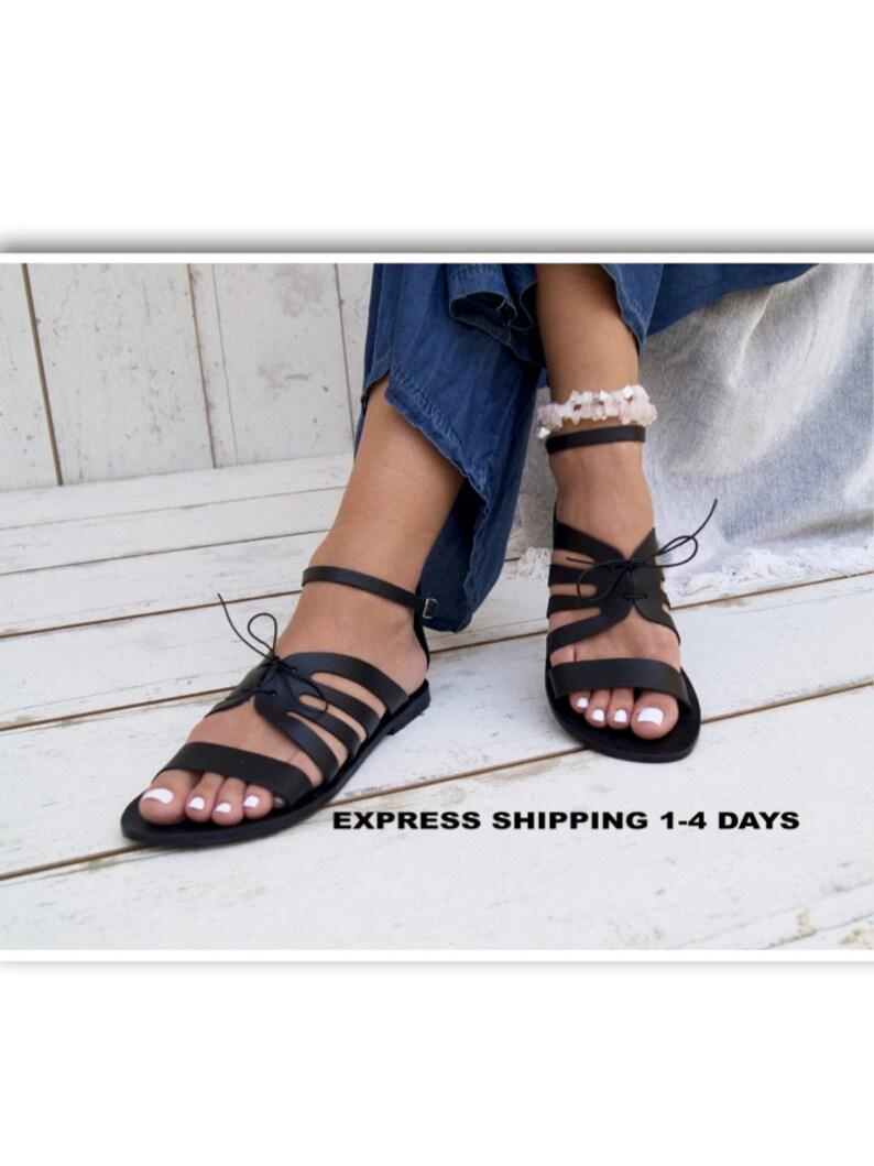 f69c0dfff9753 JASSET black sandals/ ancient Greek leather sandals/ strappy sandals/ roman  sandals/ toe ring sandals/ classic leather sandals/ handmade