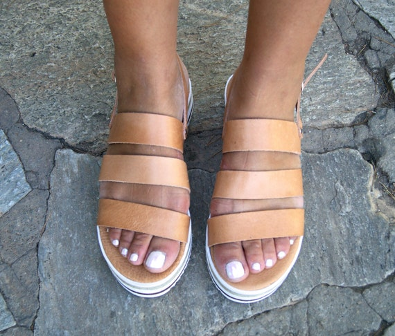 handmade summer leather slingback platforms sandals sandals sandals womens sandals DANAE sandals Greek sandals PA0gq
