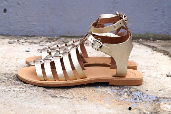 Women sandals Strappy sandals sandals EZEROSY sandals sandals GOLD Gladiator Leather Greek qcR4zwa8