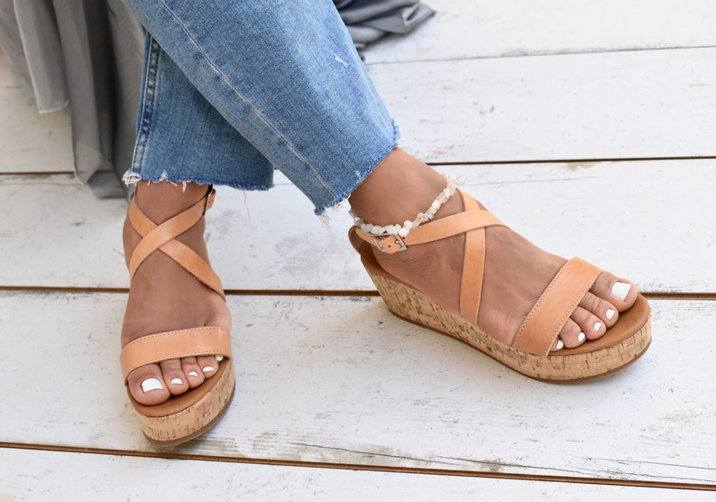 fcf132eb84001 Leonnie platforms sandals/leather sandals women/slingback sandals/handmade  sandals/Greek sandals/summer sandals.