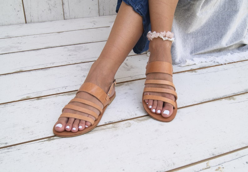 0dd094f16 ATHENA ansient Greek leather sandals ankle cuff sandals