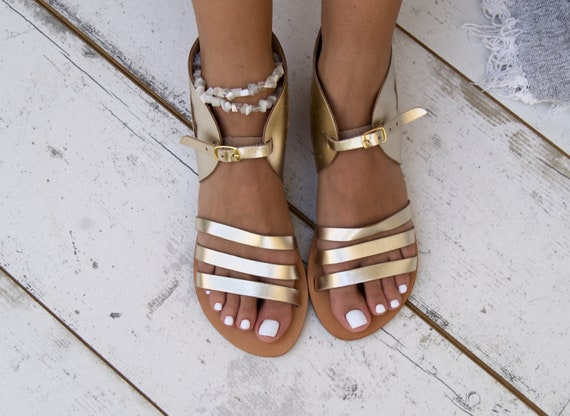 Greece inspired handmade Hermes sandals Greek Ancient sandals Gold Edition sandals in Mythology 101qPRfw