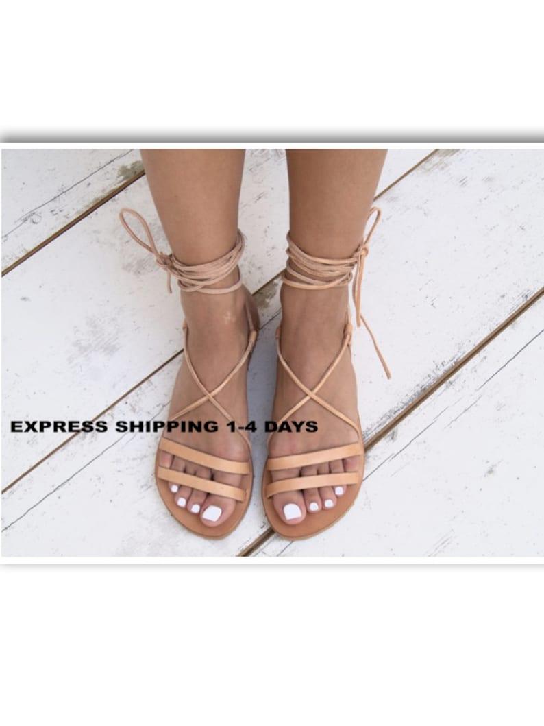 ea6a32c672823 ARIADNE ancient Greek leather sandals/ strappy sandals/ roman sandals/  women flat sandals/ classic leather sandals/ handmade sandals