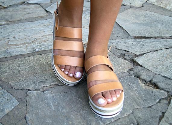 sandals summer sandals slingback sandals leather DANAE Greek platforms handmade womens sandals sandals sandals OTWqv7fP