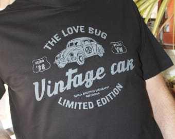 T-Shirt VINTAGE CAR/Black