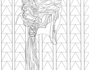Fishtail Braid Coloring Page