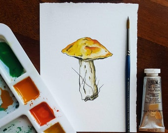 Toadstool #2 • PRINT from an original watercolour by Laura Coughlan