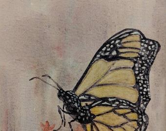 Butterfly on a bouquet