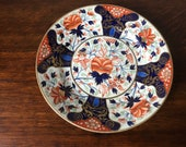Antique Derby plate in imari colours early 19th century - 8.75 quot diameter
