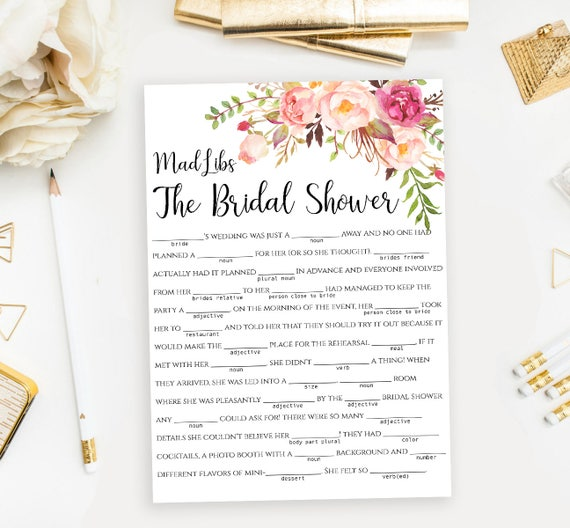 photograph regarding Bridal Shower Mad Libs Free Printable identify Outrageous Libs Bridal Shower recreation Printable \