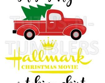 Hallmark Christmas Shirt Svg.Hallmark Xmas Etsy
