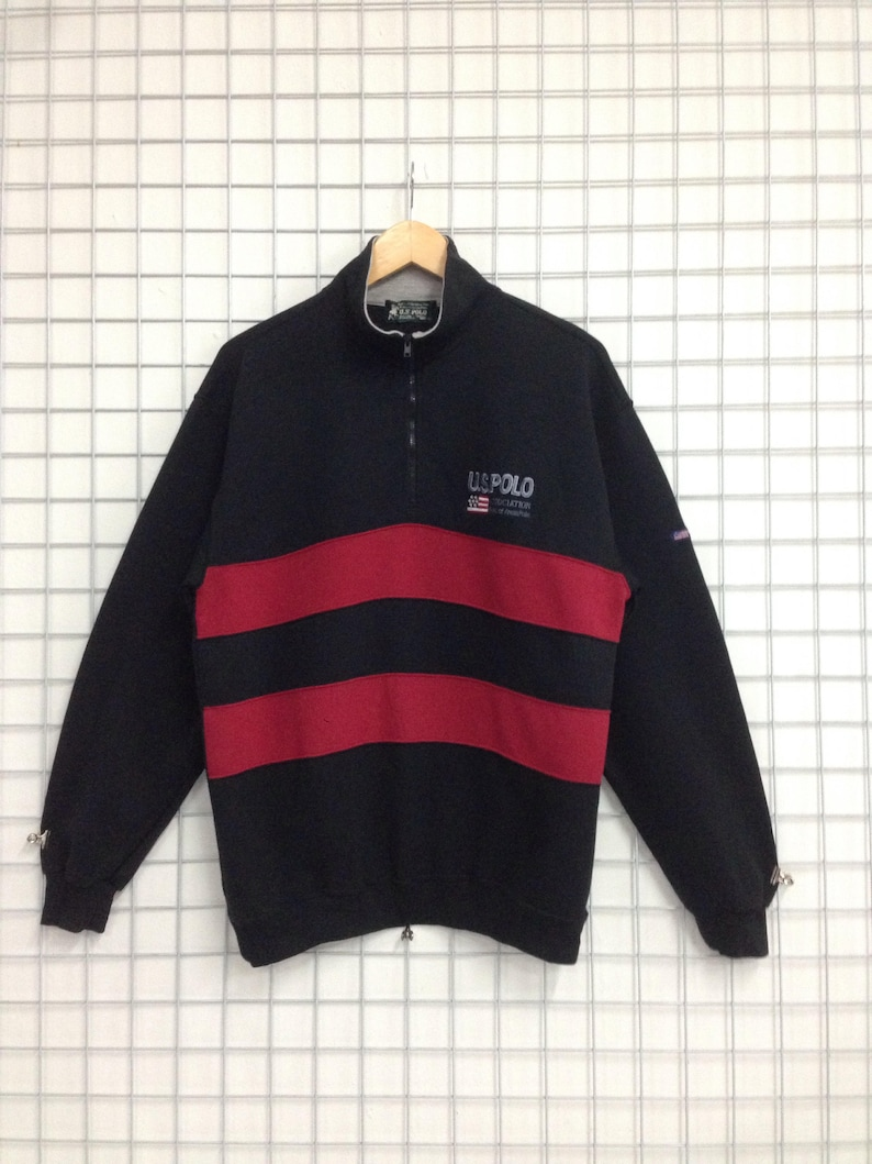 c71b7b9c1 Vintage US Polo Association Sweatshirts Half Zipper Embroidery