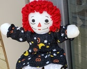 New Halloween print 10 quot Raggedy Ann Doll Handmade Classic 1 new doll, 2 outfit colors Soft Lovable Gift for any age little girl