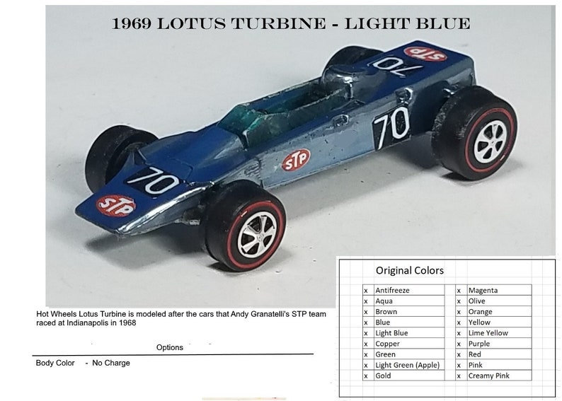 1969 Grand Prix Lotus Turbine - Restored Car
