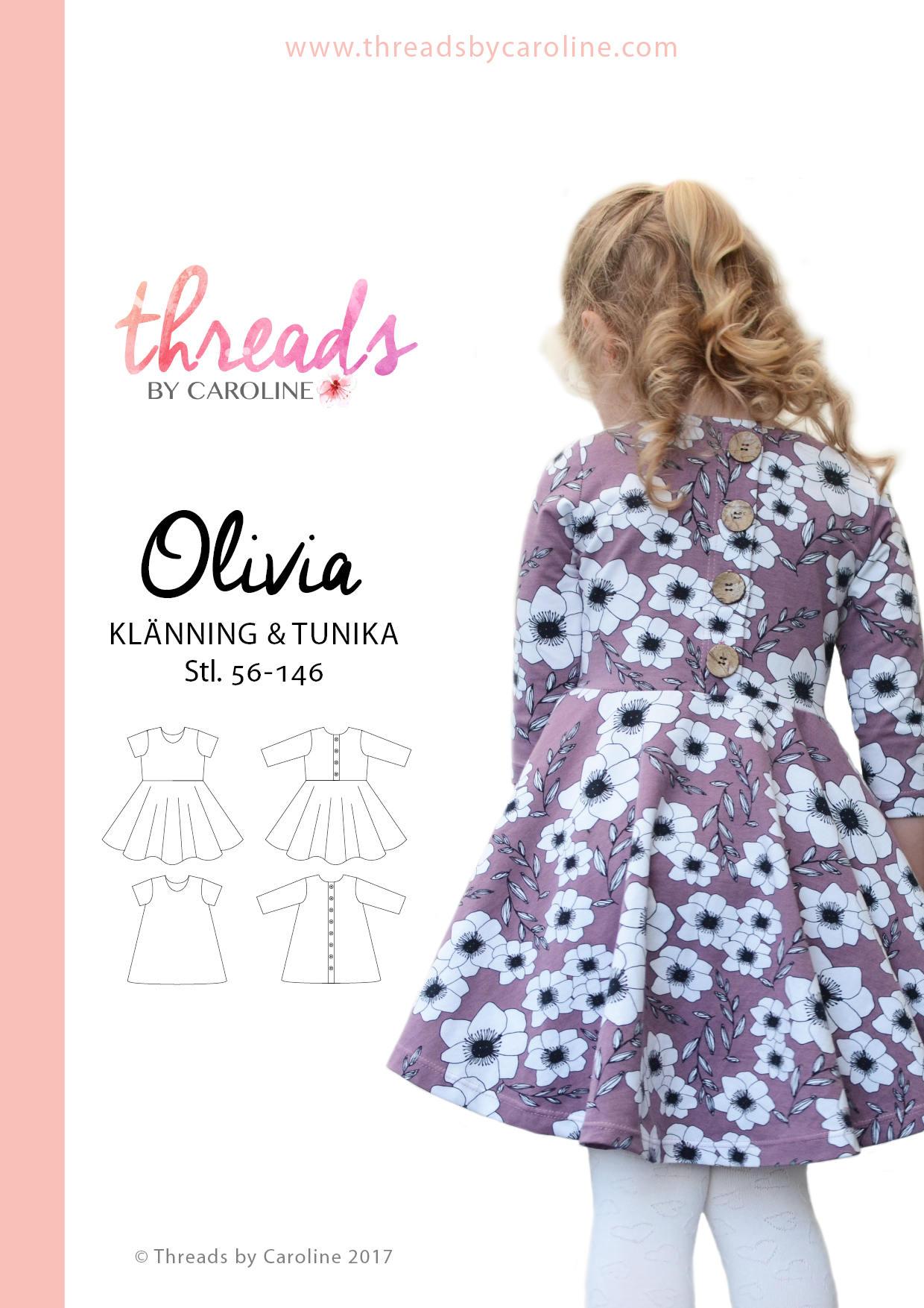 69f79f5ebb2f Olivia klänning & tunika SWEDISH | Etsy