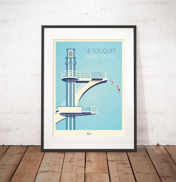 New York City Poster Of Mural Dives Art Deco