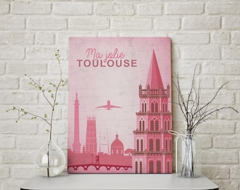 My pretty Toulouse A3 poster