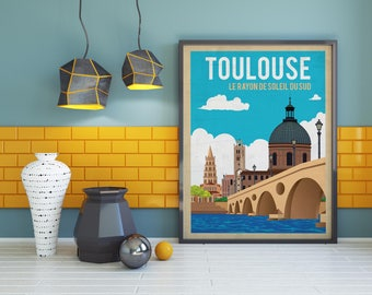 Toulouse the Southern Sun A3 poster
