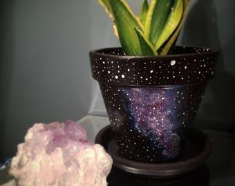 Star Hand Painted Flower Pot