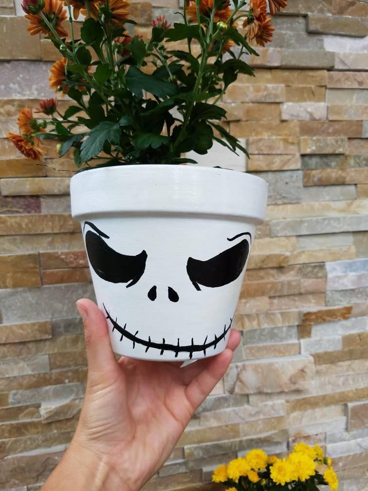 Hand bemalt Alptraum vor Weihnachten Halloween Flower Pot Jack | Etsy