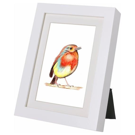 Piccolo Pettirosso uccellino da appendere decorazione giardino decorazioni da esterni scultura figura arte