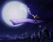 Magic Carpet Over Arabia Backdrop Background / Digital Background for Photographers / Aladdin Background / Fairytale / Magic Carpet