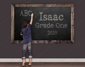 Back To School Chalkboard Background Backdrop Instant Download Magical Backdrop Fantasy Background School Background