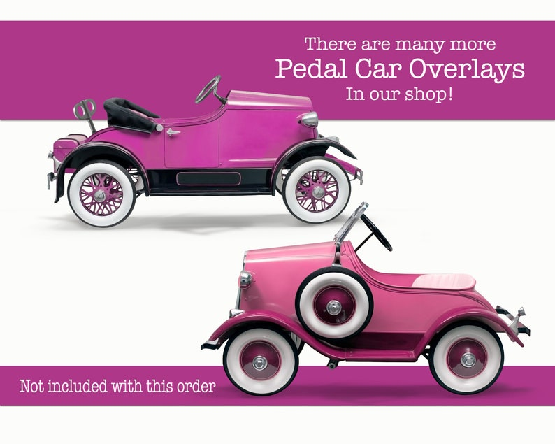 Pedal Car Overlay  Earth Tone   High Resolution Transparent Overlay For Photography Compositions  Children/'s Props for Photoshop