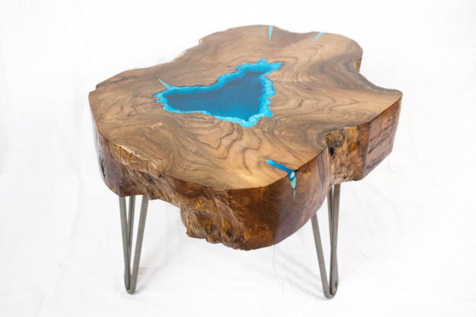 Wooden Bookshelf Cum Coffee Table In Solid Sheesham Wood Space Saver