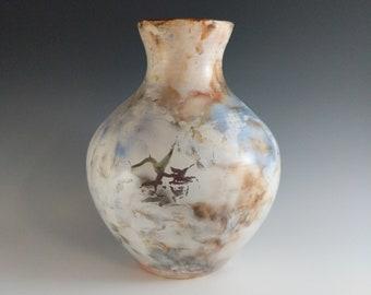 Pit Fired Porcelain Vase