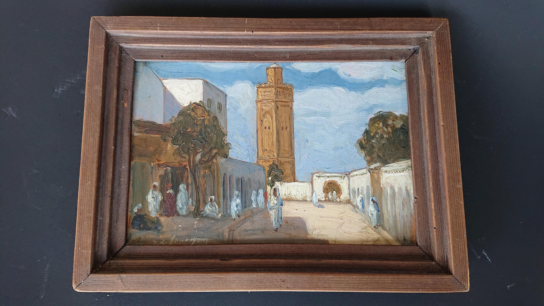Peinture Des Annees 30 Jean Roger Sourgen Maroc