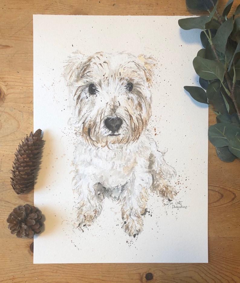 A5 Pet Illustration Watercolour Animal Portrait Custom Pet Portrait A4 A3 Pet Portrait Hand Drawn and Painted