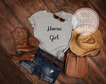 Equestrian Horse Girl Love Horses Lover Hunter Jumper English Western Rider Horses T-Shirt Tee Shirt Top Youth Adult Plus Sizes