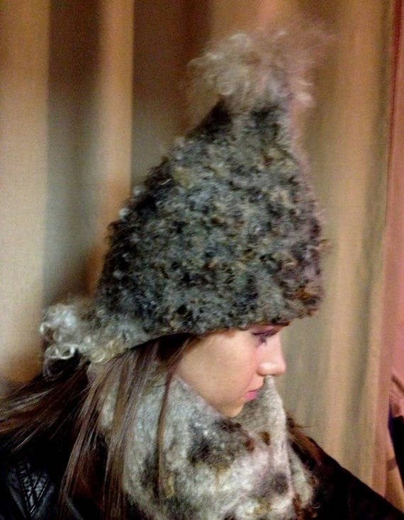 5ae01518be6 winter hat wet felted merino wool Leicester Longwool