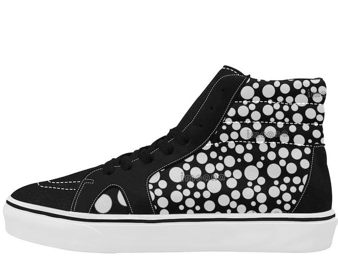 IMOANA polka dots high-top skate shoes.