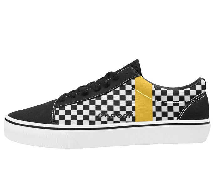 IMOANA chess low-top skate shoes.
