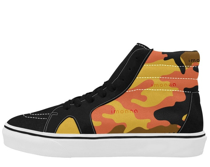 IMOANA camouflage high-top skate shoes.