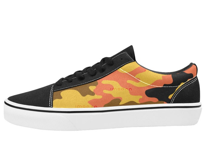 IMOANA camouflage low-top skate shoes.