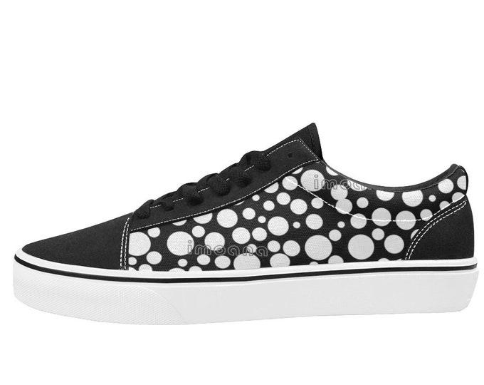 IMOANA polka dots low-top skate shoes.